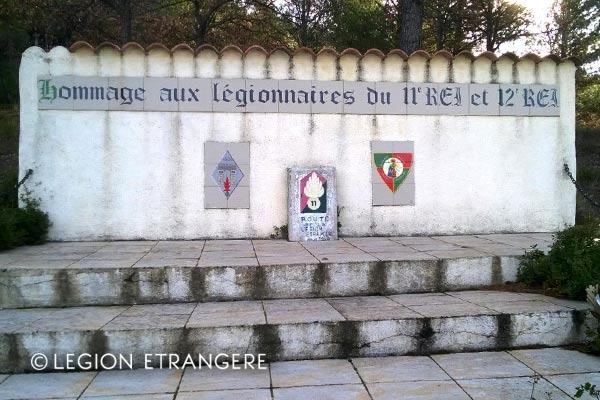 11e REI - 11 REI - Monument aux morts - Legion etrangere - Trets