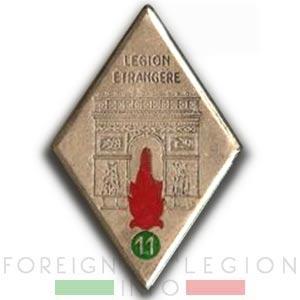 11th REI - 11 REI - Foreign Legion - 1940 - Insignia - Badge