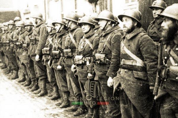 11e REI - 11 REI - Legion Etrangere - France - 1940 - Metzervisse - légionnaires