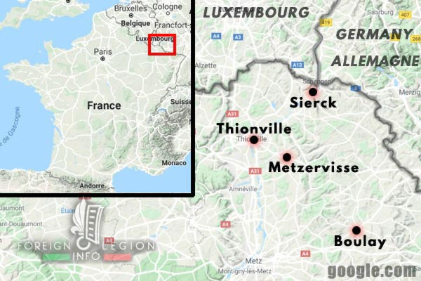 11th REI - 11 REI - Foreign Legion - France - 1940 - Thionville - Sierck - Boulay - Map
