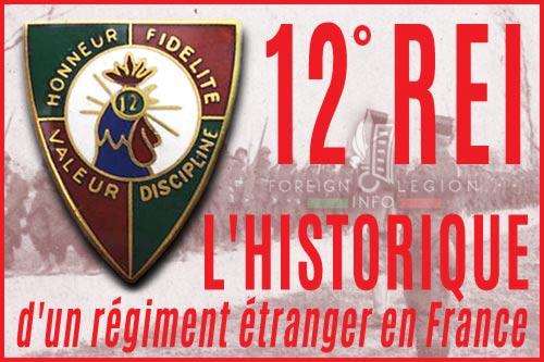 12e Régiment Étranger d'Infanterie - L'historique - 12e REI