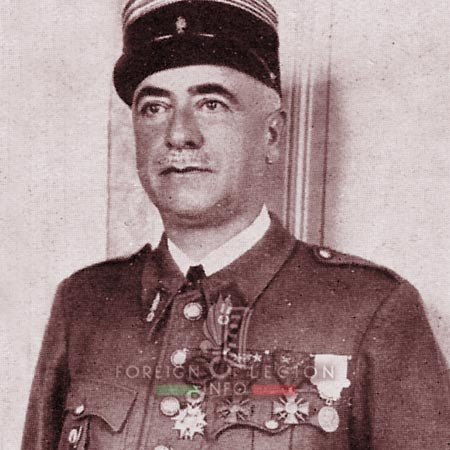 12e REI - 12 REI - Legion Etrangere - France - 1940 - Lieutenant Colonel Besson