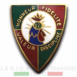 12e REI - 12 REI - Legion Etrangere - 1940 - Insigne