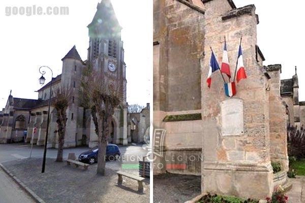 12e REI - 12 REI - Legion Etrangere - France - Plaque commémorative - Sermoise