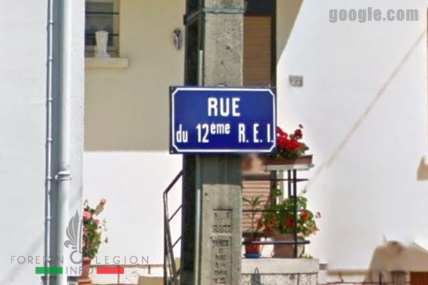 12e REI - 12 REI - Legion Etrangere - France - Rue du 12eme REI - Soissons