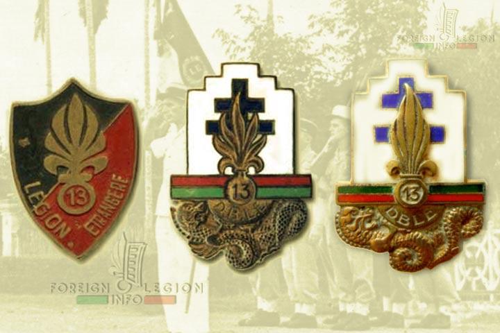 13e DBLE - 13 DBLE - insigne - insignia - 1946 - 1947