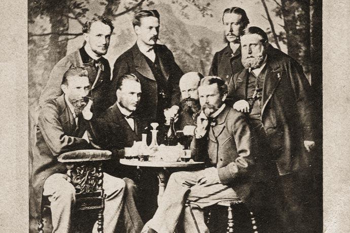 Hanoverian Legion - Guelphic Legion - officers - 1868