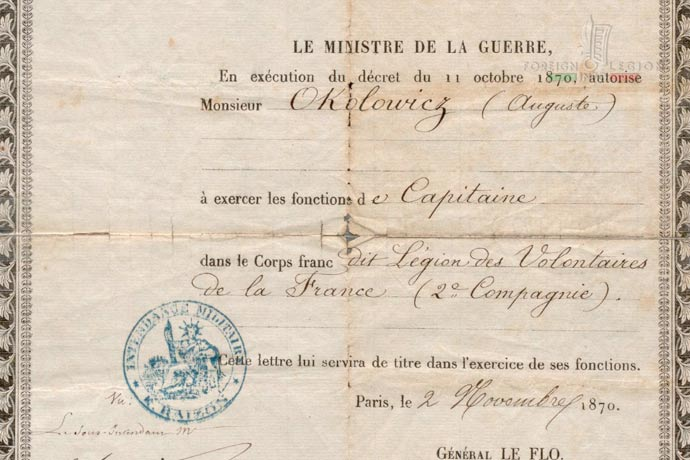 Legion of Volunteers from France - Captain Okolowicz
