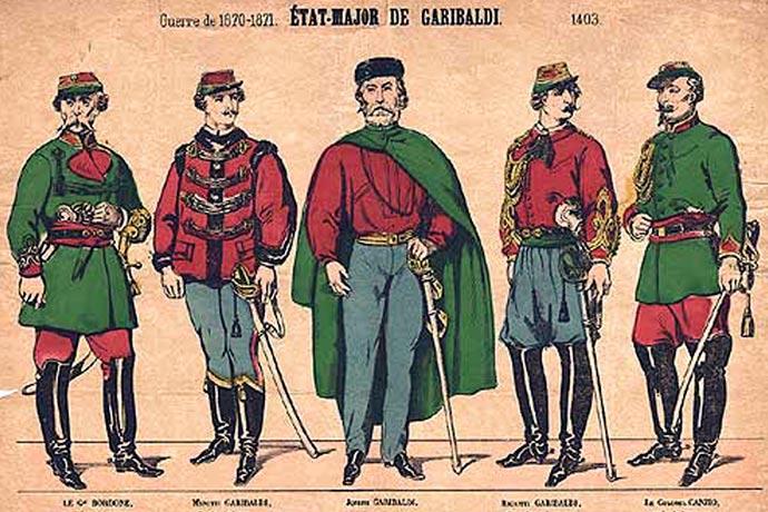 Army of the Vosges - Giuseppe Garibaldi - General Staff