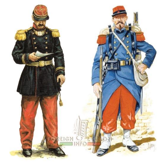 Foreign Regiment - 1870 - Captain - Legionnaire