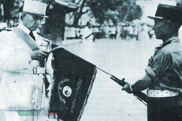 1er BEP - 1 BEP - Foreign Legion Etrangere - 1951 - Fanion - Pierre Darmuzai - General de Lattre de Tassigny