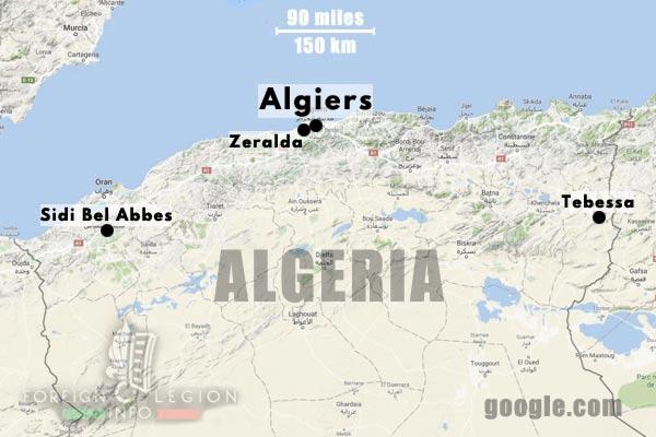 1er BEP - 1 BEP - Foreign Legion Etrangere - 1955 - Tebessa - Zeralda - Algeria