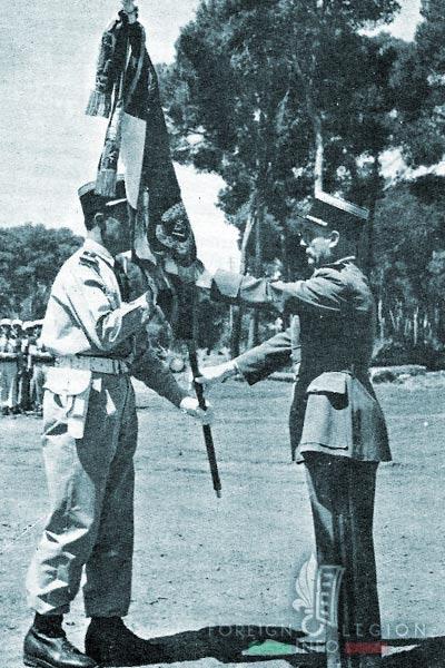1er REP - 1 REP - Foreign Legion Etrangere - 1956 - Drapeau - Zeralda