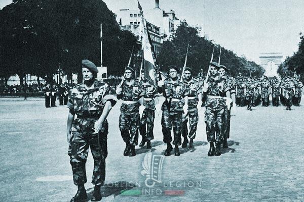 1er REP - 1 REP - Foreign Legion Etrangere - 1957 - Jeanpierre - Paris - Champs Elysées