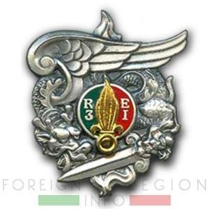 3 REI - 3e REI - Foreign Legion Etrangere - 1948 - Parachute Company - Insignia - Badge - Cie Para