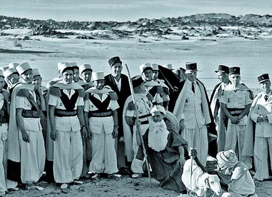 1re CSPL - 1 CSPL - legionnaires - Djanet - Christmas - Noel 1957