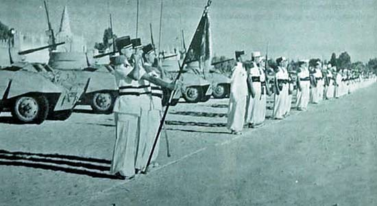 1re CSPL parading in Ouargla 1956