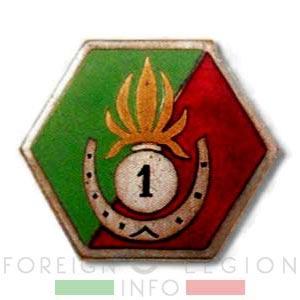 1er REI - Motorized Company insignia - Compagnie Automobile insigne