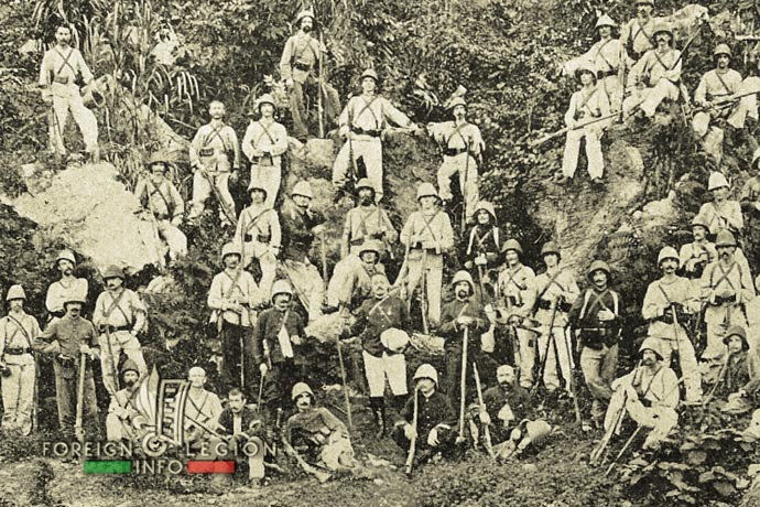 1st Foreign Regiment - Foreign Legion - Legionnaires - French Indochina - 1890s