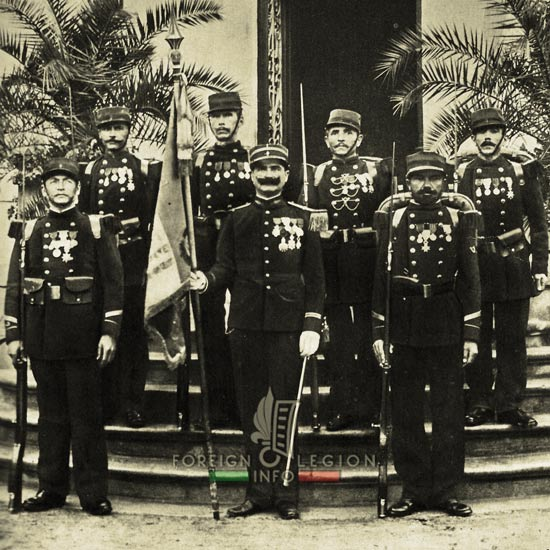 1st Foreign Legion Regiment - Foreign Legion - 1893 - Flag - Color - Lieutenant Cornetto