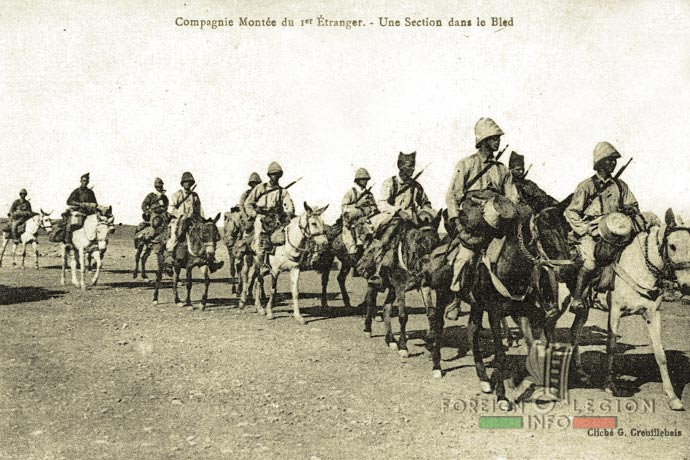 1st Foreign Regiment - Foreign Legion - Mounted Company - South Oran - 1900s