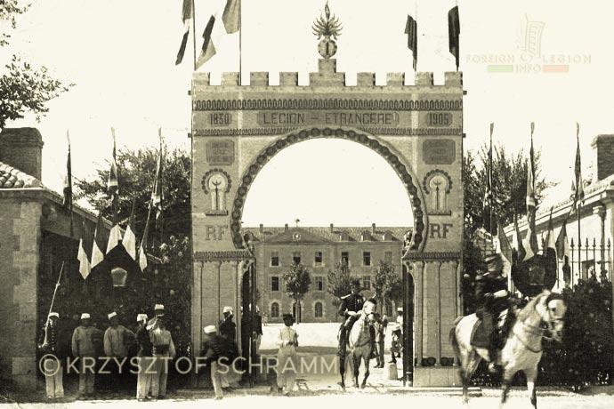 1st Foreign Regiment - Foreign Legion - Sidi Bel Abbès - Caserne Vienot - Entrance - 1905