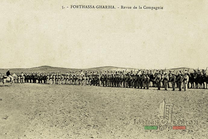 1st Foreign Regiment - Foreign Legion - Mounted Company - South Oran - Forthassa Gharbia - 1908