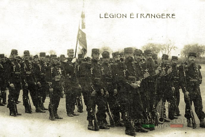 1st Foreign Regiment - Foreign Legion - Sidi Bel Abbès - Legionnaires - Regimental color - 1910