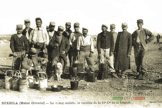 1st Foreign Regiment - Foreign Legion - Legionnaires - 22nd Company - Morocco - 1914