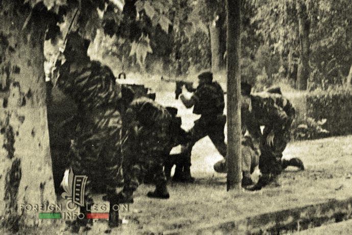 1st Foreign Regiment - Foreign Legion - Sidi Bel Abbès - Algeria - 1961 - fighting