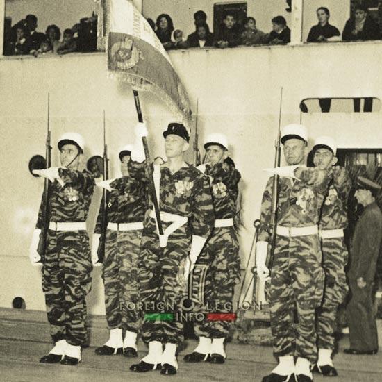 1st Foreign Regiment - Foreign Legion - Regimental color - Marseille - October 1962