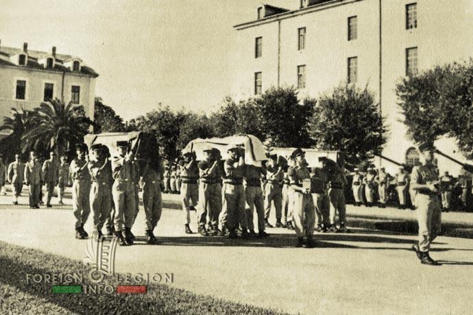 1st Foreign Regiment - Foreign Legion - Sidi Bel Abbès - Algeria - 1962 - General Rollet - Prince Aage of Denmark - Legionnaire Zimmermann