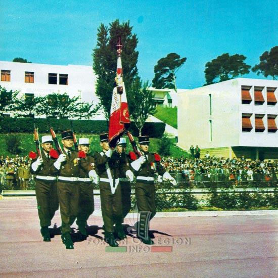 1st Foreign Regiment - Foreign Legion - Color guard - 1977