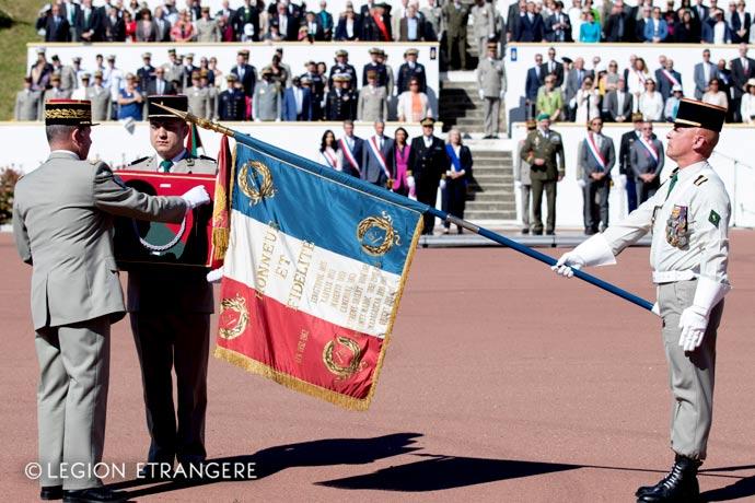 1st Foreign Regiment - Foreign Legion - Regimental color - Aubagne - Fourragere - 2019