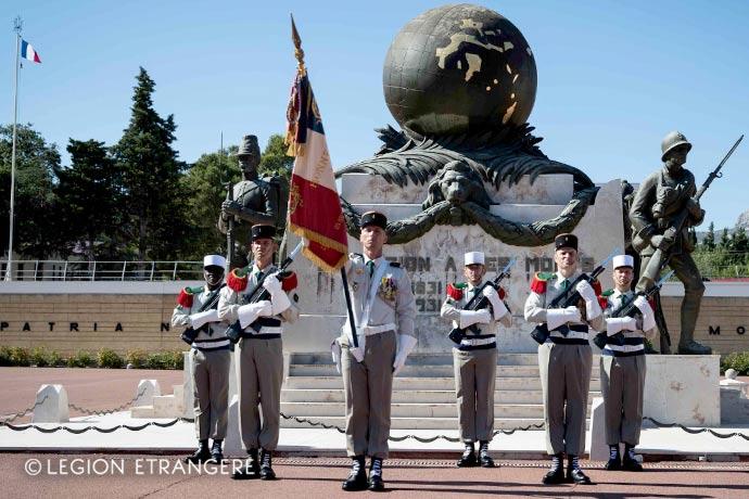 1st Foreign Regiment - Foreign Legion - Regimental color - Aubagne - Camerone - 2020
