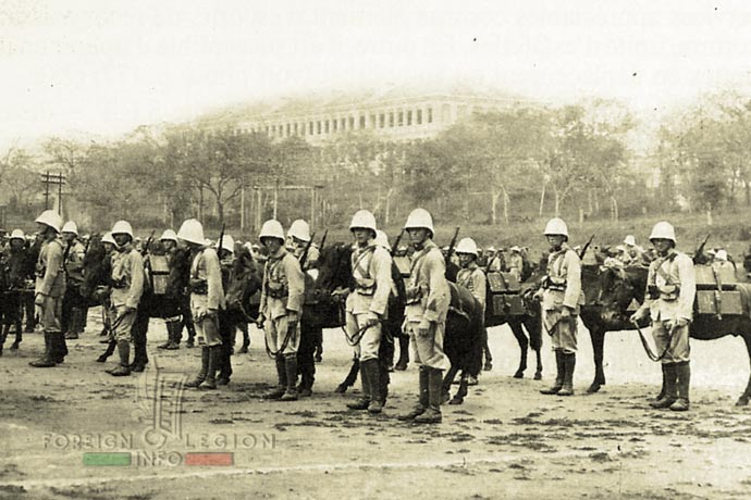 1st Foreign Infantry Regiment - Foreign Legion - 7th Battalion - Indochina - 1929