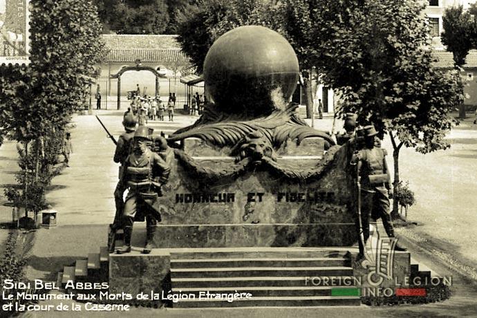 1st Foreign Infantry Regiment - Foreign Legion - Sidi Bel Abbes - Algeria - War Memorial - 1930s