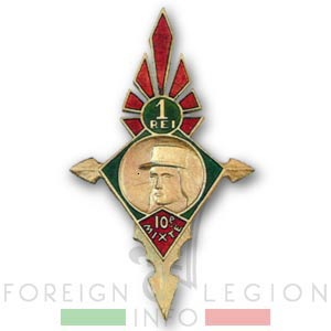 1er Régiment Etranger d'Infanterie - Légion étrangère - Badge - 10th Motorized Mixed Company - 10e CMP - 1941
