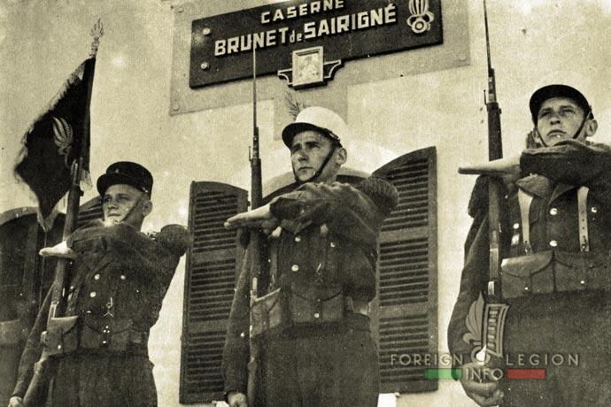 1st Foreign Infantry Regiment - Foreign Legion - 1st Battalion - Saida - Fanion - 1954