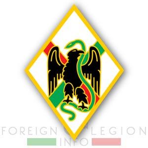 1st Foreign Regiment - Foreign Legion - Badge - 1er RE - 1 RE - 1955