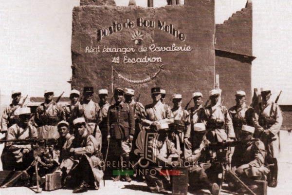 1er REC - 1 REC - Foreign Legion - Legion Etrangere - 4th Squadron - 1930s - Bou Malne - Morocco