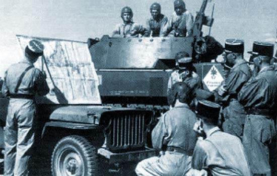 1er REC - 1 REC - 1st REC  - colonel Miquel - Colmar - 1945