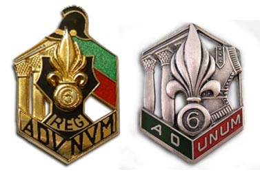 6e REG - 6 REG - 6th REG - insigne - insignia