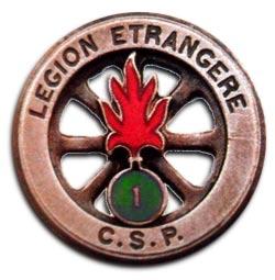 CRTRLE - Compagnie Renforcée de Travaux Routiers de la Légion Étrangère - Compagnie Renforcée de Travaux Routiers - Insigne - Insignia
