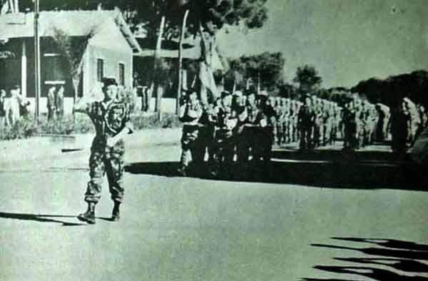 Parading of the 1er REP in Zeralda in May 1959