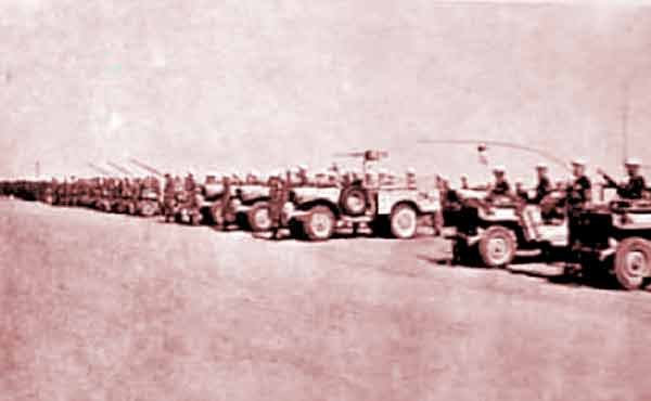 Reconnaissance Squadron of 1er REP in Blida in November 1956