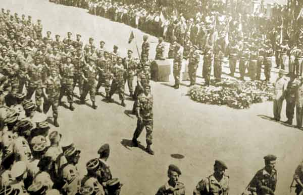 Funeral of Colonel Jeanpierre in Guelma on 31 May 1958