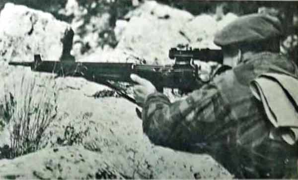 Sniper of 1er REP in the Nementcha mountains in February 1956
