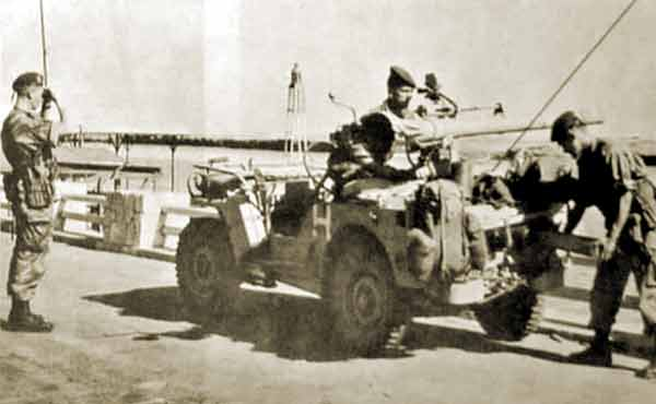 1er REP jeep with 75SR cannon during the Suez Crisis