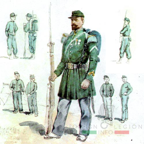 Second Foreign Legion - 2nd Legion - Swiss Legion - 1st Foreign Regiment - 1856-59 - Algeria - Chasseurs - Légionnaire